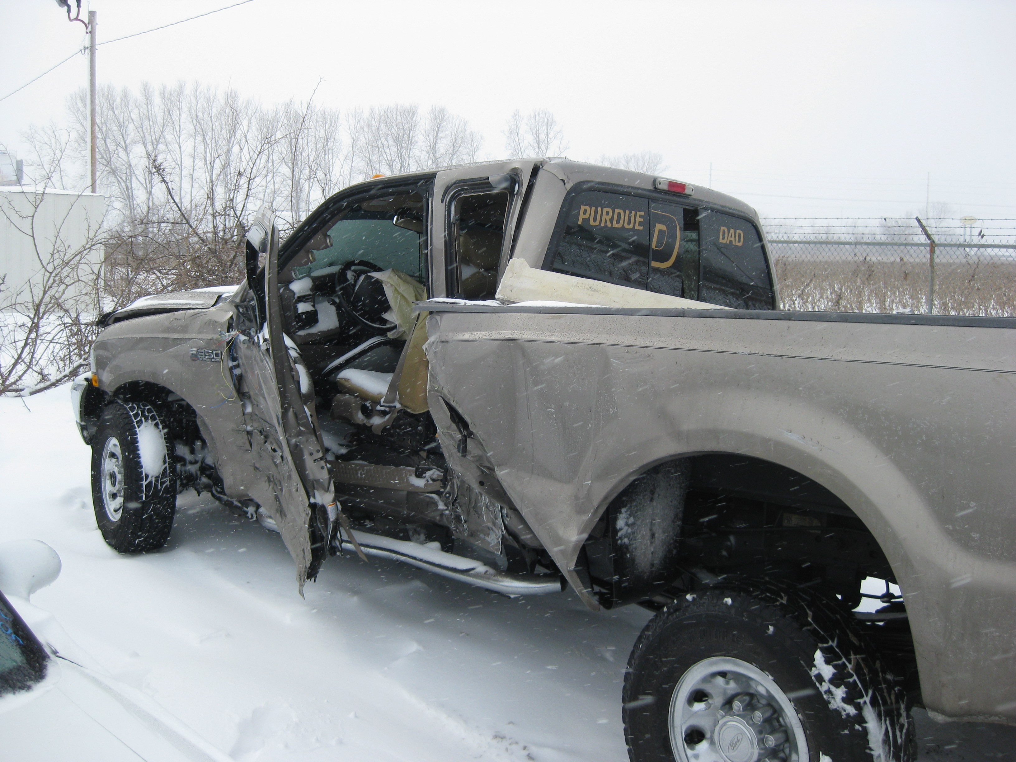Wrecked ford pickups