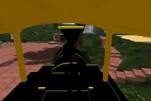 The Drivers seat of the BMS on Purdue Island in Second Life